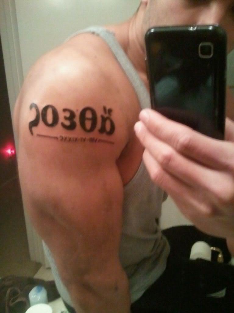 Roman Numeral Tattoo Font