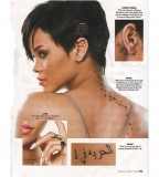 Roman Numeral Body Tattoos On Rihanna