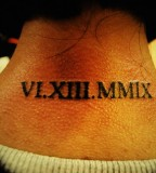Roman Tattoo Design On Back Neck