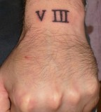 Lucky Number 8 In Roman Numerals Tattoo