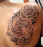 Blooming Roses Flowers Tattoos On Shoulder for Women - Rose Tattoos