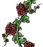 Rose Vine Tattoos Designs For Women Thorn Vines