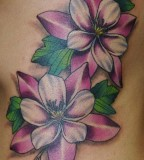 Best Purple Rose Vine Tattoo Designs