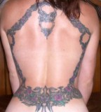 Rose Vine Frame Upper Body Rose Flower Tattoos (NFSW)