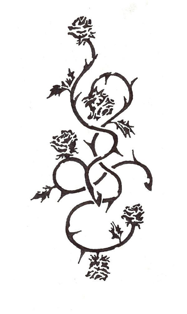 nice rose vines tattoos - tattoomagz