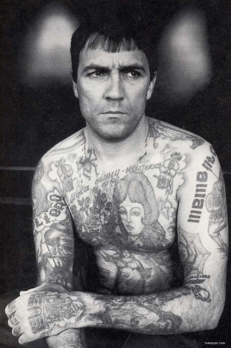 Russian Tattoo Meanings Wiki: Russia Gangster Tattoo Picture