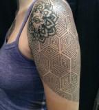 Sacred Geometrydot Work Half Sleeve By Dave Rodriguez
