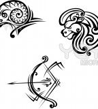Leo Aries And Sagittarius Symbols for Tattoo Design Ideas