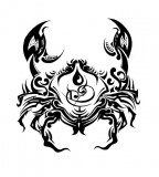 Cancer Zodiac Symbol Tattoos Sketch Design