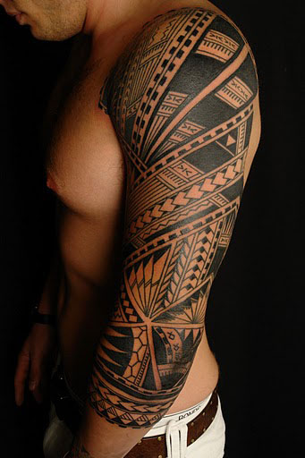 Best samoan full sleeve tattoo designs for Best polynesian tattoo artist