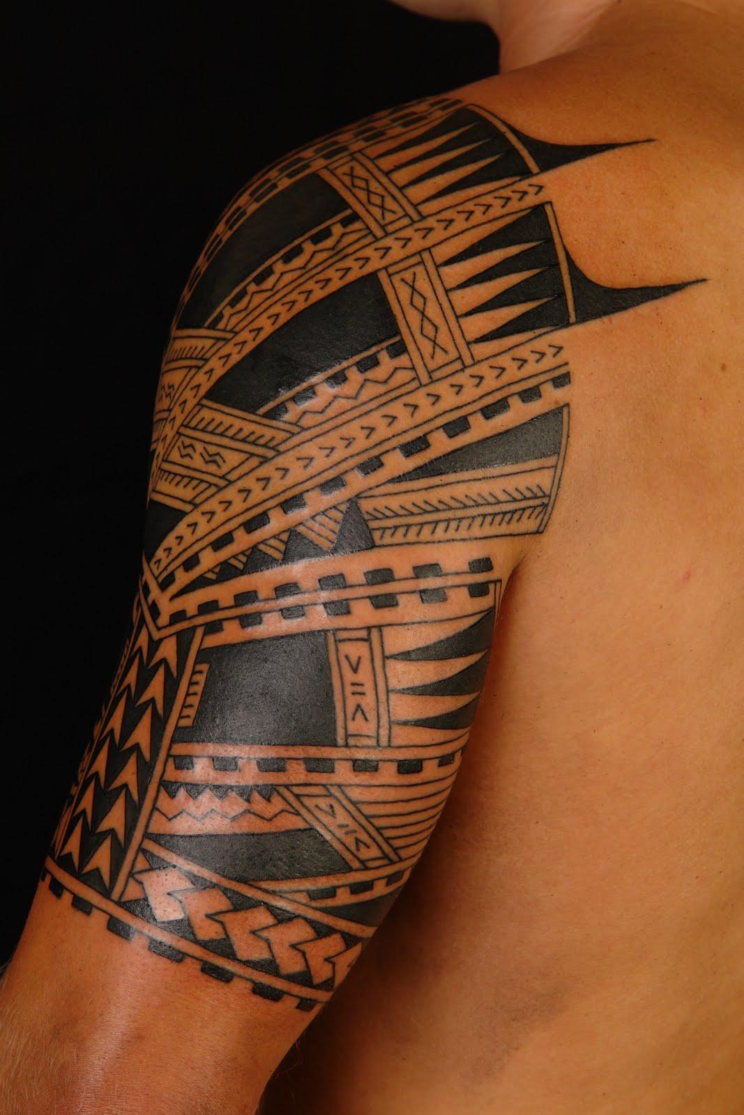 Samoan Sleeve Tattoo Shane Tattoos Polynesiansamoan Half Sleeve 49424 Jpg