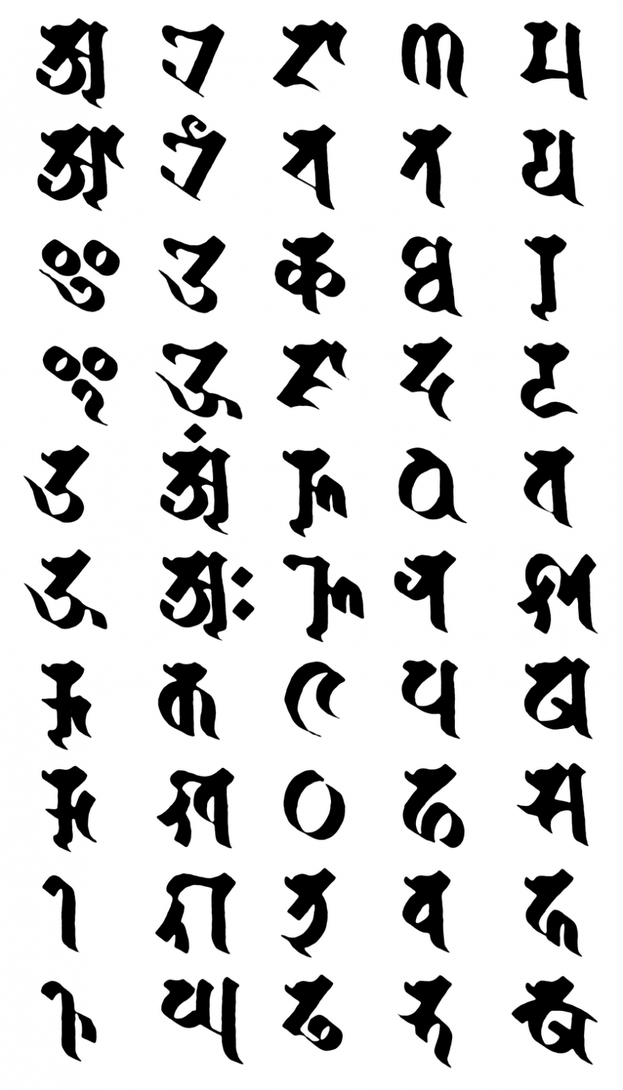Visible Mantra Sanskrit Script Tattoo Tattoomagz