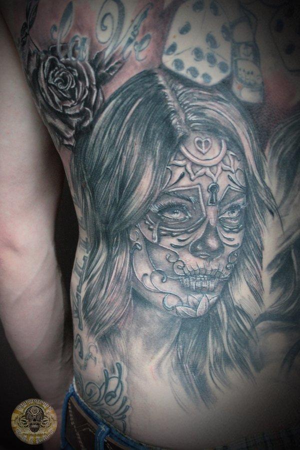 santa muerte part back tattoo tattoomagz. Black Bedroom Furniture Sets. Home Design Ideas