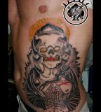 awesome Old School Tattoo Santa Muerte