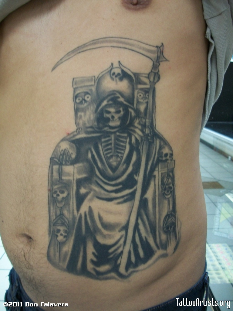 tatuajes de la santa muerte. Black Bedroom Furniture Sets. Home Design Ideas