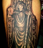 Dashing Santa Muerte Tattoo Artwork