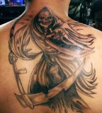 Dashing Santa Muerte Tattoos
