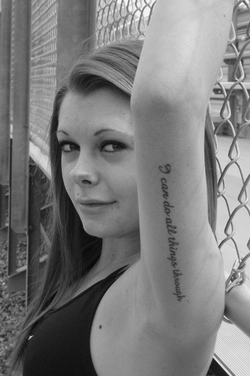 Scripture christian tattoo on left hand for girls tattoomagz for Bible tattoos for girls