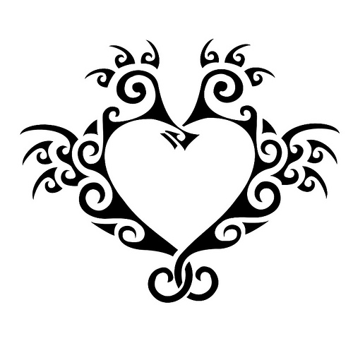 Strength Tattoos Designs Ideas And Meaning: Seahorse Tattoo Heart Design