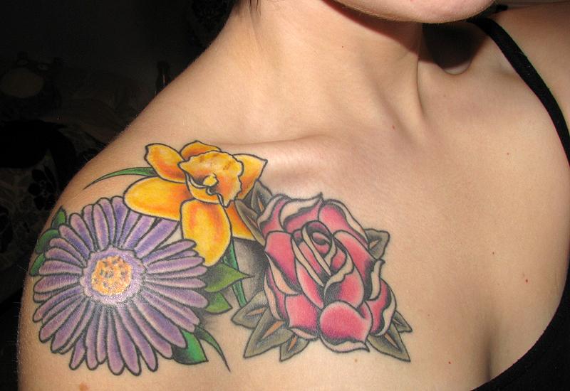 Exotic September Birth Flower Tattoo