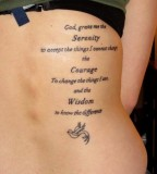 Serenity Courage Wisdom - Side Back Tattoo