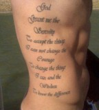 Side Body Tattoo Ideas - Religious Tattoo