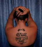 Back Tattoo Design Of Serenity Prayer Tattoo