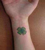Shamrock Tattoo Pictures in the Right Arm