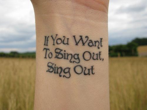 Music quotes tattoos