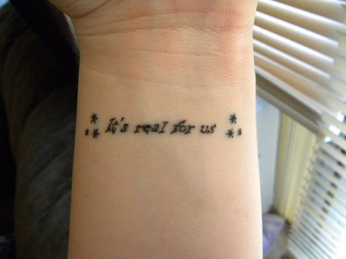 Short Love Quotes For Tattoos Captivating Short Tattoo Quotes Its Real To Us  Tattoomagz