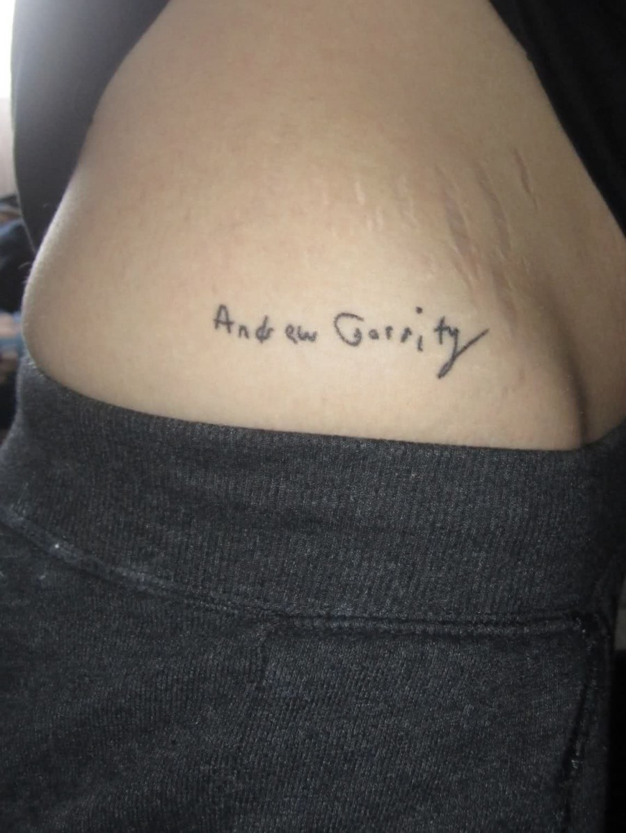 Quotes Tattoos Quotes Tattoos Adrew Garrity Pictures  Tattoomagz