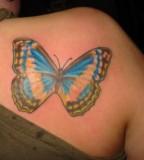 Butterfly Back Shoulder Tattoo Design