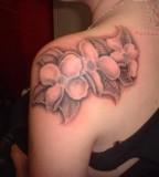 Leaf Tattoo On Back Shoulder