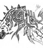 Wolf Shoulder Tattoo Design