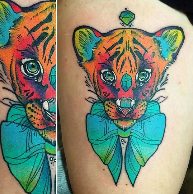 simba trippy tattoo
