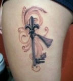 Beautiful Louisiana Skeleton Key Tattoo Sample Picture