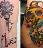 Gallant Skeleton Key Tattoo Design for Men