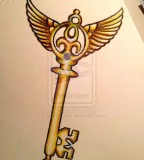 Winged Skeleton Key Tattoo Design Sketch on Deviantart