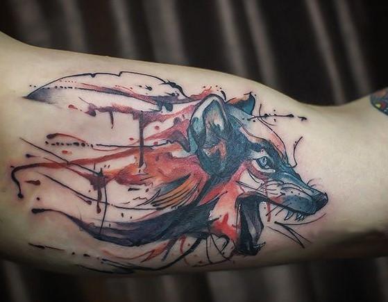sketch-style-wolf-tattoo