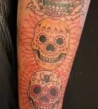 Faces Of Skull Tattoos Designs