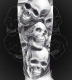 Sketch of Skull Tattoo Meaning And Designs