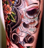Skull Tattoos Girly Design