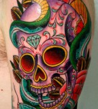 Tattoo Design Of Sugar Skull Tattoos