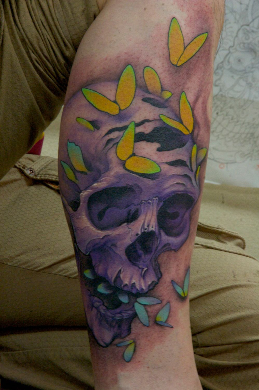 Tattoo of skull and butterfly design tattoomagz for Skull tattoos meaning