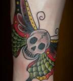 Forearm Tattoo Design - Butterfly / Skull Tattoos