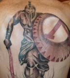 Running Spartan Warrior Tattoos
