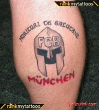 Spartan Tattoo of Bayern Munich Tribute Soccer Tattoo