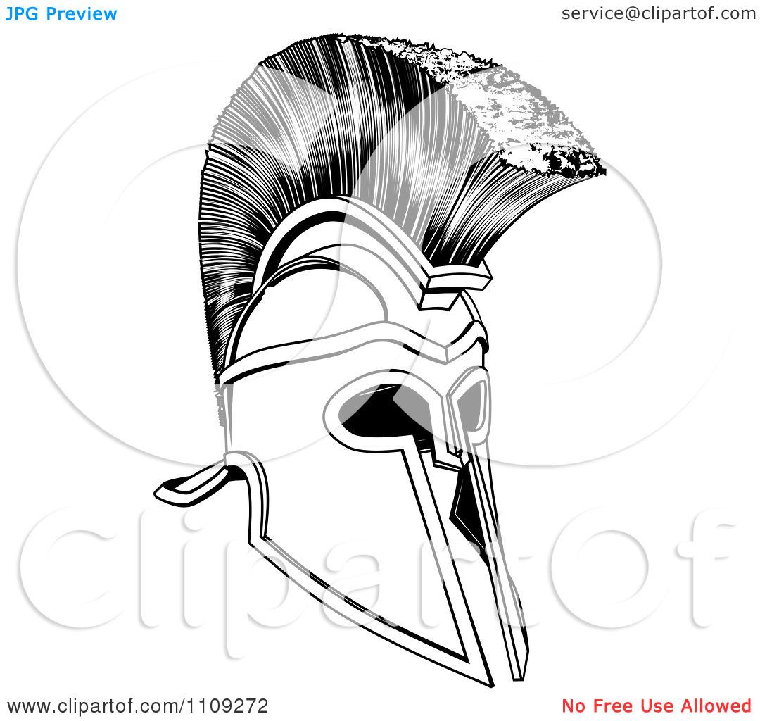 black and white ancient corinthian or spartan helmet tattoomagz
