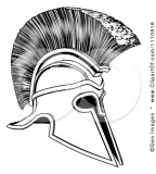 Black And White Corinthian Trojan Spartan