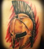 Fullcolored Sparta  Tattoo Picture